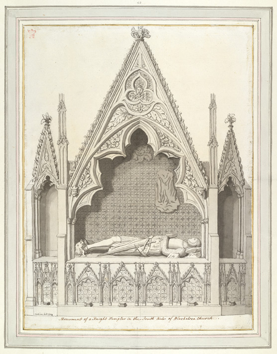 Winchelsea Church, Monument Of A 'Knight f. 23 (no. 43)